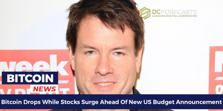 Bitcoin-Drops-While-Stocks-Surge-Ahead-Of-New-US-Budget-Announcement-FILEminimizer-750x375